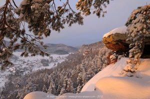 Vallée de la Steinbach en hiver
