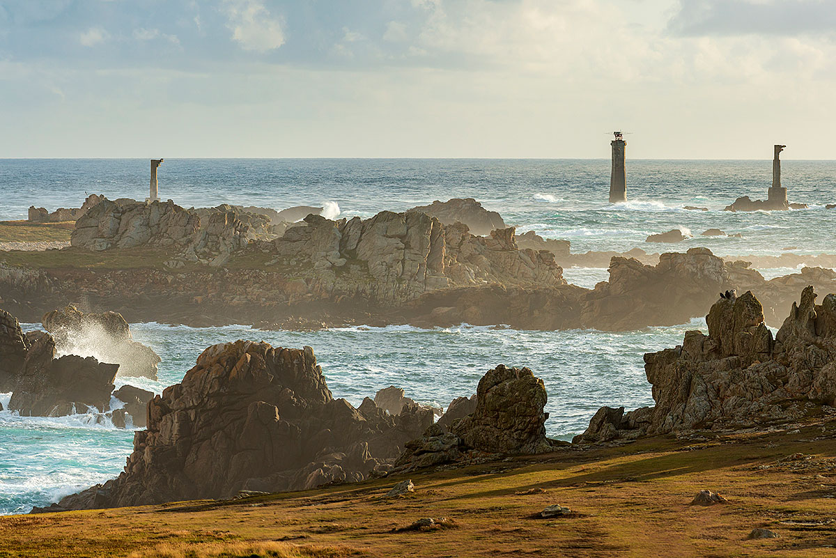 Paysage de l'Ile d'Ouessant en Bretagne