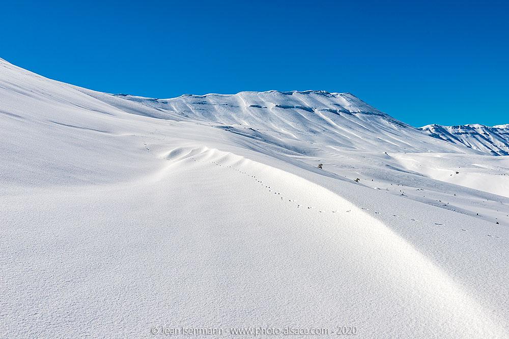 Le Mont Liban sous la neige en hiver, Liban, Février 2020