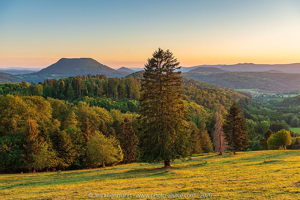 Le Climont vue depuis le Haut Ranrupt en Alsace