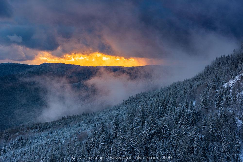 La neige sur les Vosges depuis le Petit Donon