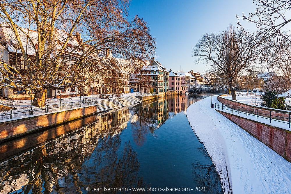 Quartier de la petite France en hiver
